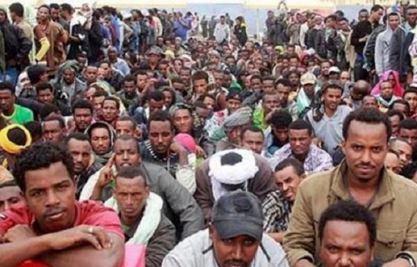 Migranti africani detenuti nello Yemen