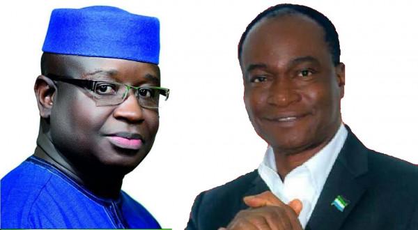 Elezioni in Sierra Leone: I due sfidanti : Julius Mada-Bio, a sinistra e Samura Kamara, a destra