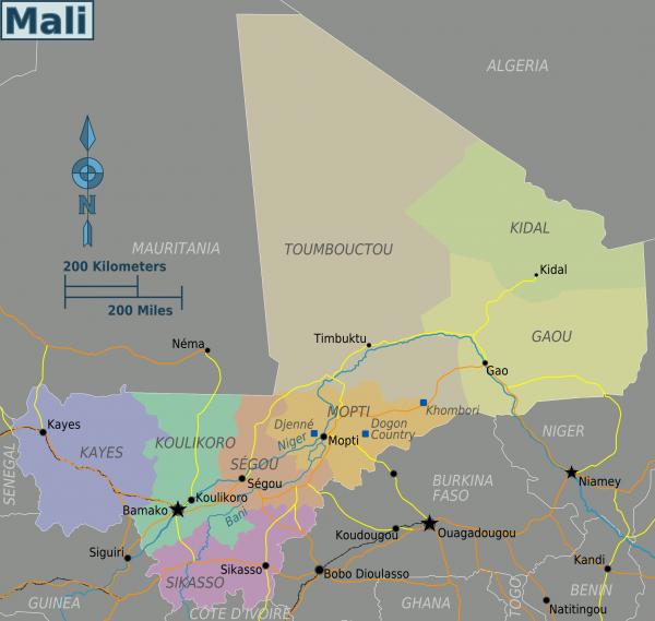 Mali-Segou-map