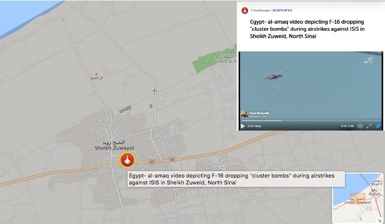 Mappa dell'esplosione e tweet ripreso da al-Amaq