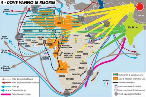 La distribuzione degli investimenti cinesi in Africa