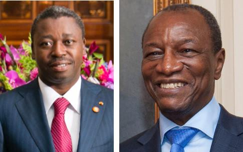 Da sinistra: Faure Gnassingbé, presidente del Togo e Alpha Condé, capo dello stato della Guinea