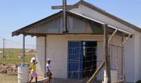 Chiesa evangelica in una zona rurale dell'Africa