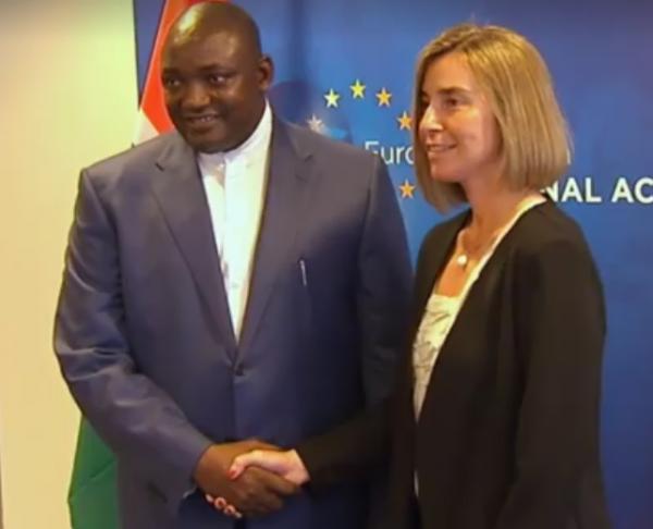 Adama Barrow, presidente del Gambia e Federica Mogherini, Alto rappresentante dell'Unione per gli Affari esteri e la politica di sicurezza e vicepresidente della Commissione