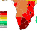 Mappa dell'AIDS nell'Africa Subsahariana