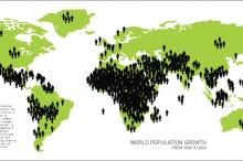 Il grafico mostra la distribuzione dell'incremento demografico nel mondo