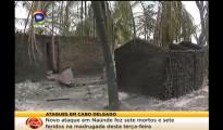 Villaggio dato alle fiamme dopo l'attacco jihadista a Cabo Delgado (courtesy STV)
