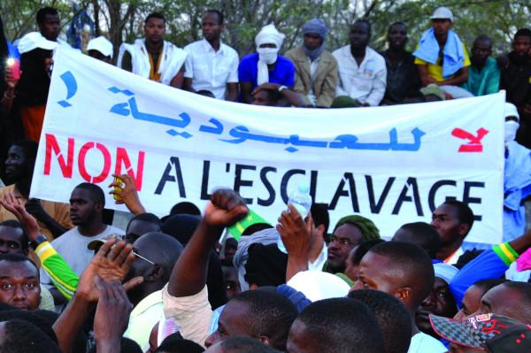 Manifestazione contro la schiavitù in Mauritania