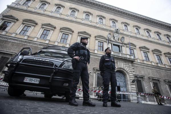 L'amasciata francese a Roma, luogo dell'annunciata manifestazione