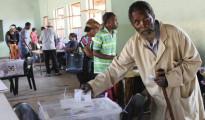 Seggio elettorale nello Swaziland