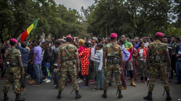 Manifestazione ad Addis Ababa, capitale dell'Etiopia