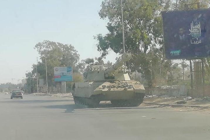 La marcia su Tripoli della Settima brigata.