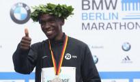 Eliud Kipchoge, il vincitore della maratone di Berlino 2018