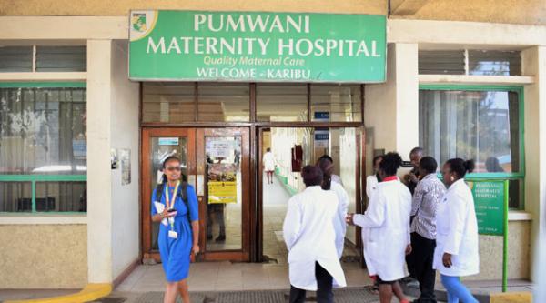 L'ingresso dell'ospedale incriminato