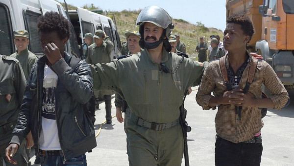 Tangeri, Marocco, arresti di migranti sub-sahariani