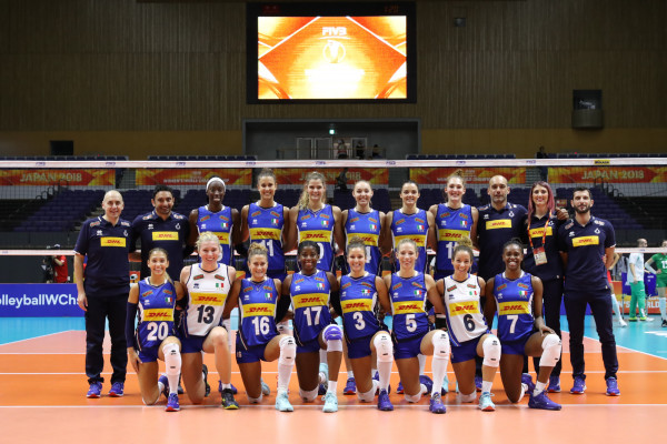 Nazionale italiana femminile di pallavolo ai mondiali in Giappone 2018